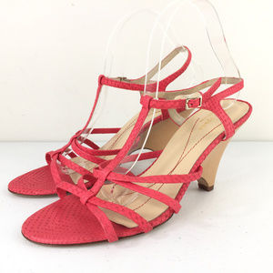 New Kate Spade 10 Coral Snake Embossed sandals